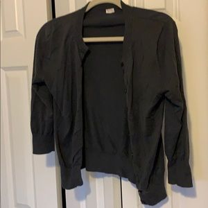 Charcoal grey cardigan form J Crew